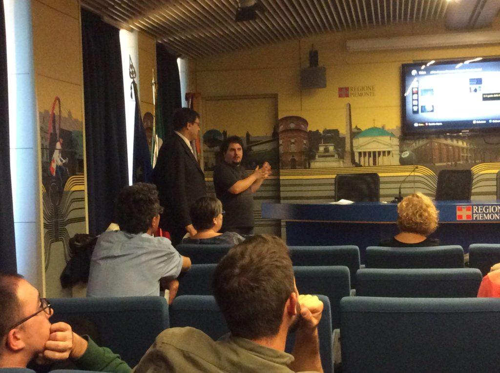 Presentazione del cortometraggio presso la Regione Piemonte